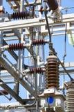 发电站结构细节 能源设备 电子产品 免版税图库摄影