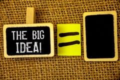 发短信给显示大想法诱导电话的标志 概念性照片有一个成功的想法聪明认为 库存图片