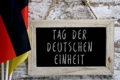 发短信给用德语德国团结写的天 库存照片