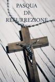 发短信给pasqua di resurrezione,复活节用意大利语 库存图片