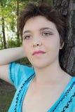头发短的妇女 免版税库存照片