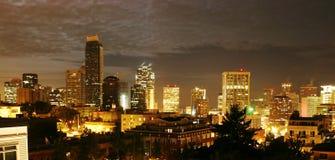 发红光的西雅图 免版税库存照片