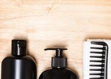 头发美容品和辅助部件背景 库存图片