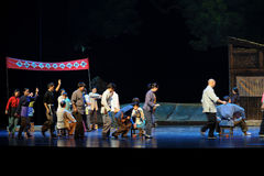 发芽的江西歌剧的竞选杆秤 免版税库存照片