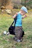 发芽的高尔夫球能手 库存照片