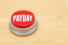 发薪日红色按钮 免版税库存照片