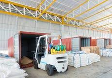 发行全球企业运输的运输仓库 库存图片