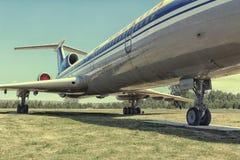 从发行取消的航空器陈列模型  免版税图库摄影