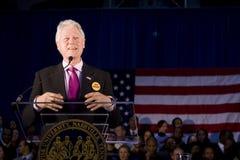 发表总统讲话的比尔・克林顿 库存图片