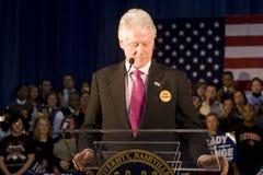 发表总统讲话的比尔・克林顿 库存照片