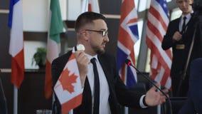 发表cryptocurrency的讲话加拿大政治家 影视素材