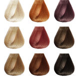 头发调色板。彩色组。 免版税库存照片