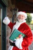 发运家庭圣诞老人 免版税库存图片