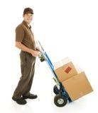 发运移动式摄影车人搬家工人 免版税库存图片