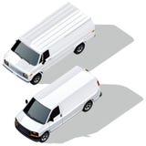 发运集合有篷货车向量 皇族释放例证