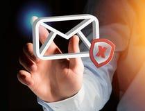 发送同样的消息到多个新闻组消息在一个未来派接口显示的电子邮件标志- 库存图片