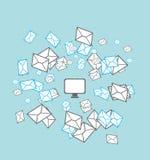 发送邮件列表概念 库存图片