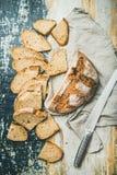 发酵母麦子面包大面包 库存图片