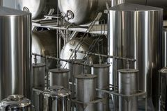发酵罐在槽坊 库存图片
