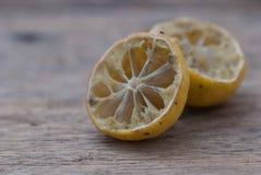 发霉干的柠檬 库存图片
