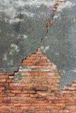 发霉的砖墙 免版税图库摄影