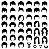 头发,传染媒介发型剪影 皇族释放例证