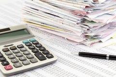发货票总结 免版税图库摄影