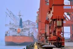 发货行动在厦门,福建,中国 图库摄影