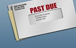 取款凭证由于过去 库存图片
