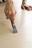 取消油漆与刮板 免版税库存图片