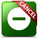 取消绿色方形的按钮 库存照片