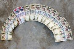 取缔在Rs 500, 1000笔记是在恐怖资助的外科罢工的Rs,黑金钱 免版税库存照片