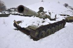 受伤的俄国坦克 免版税库存图片