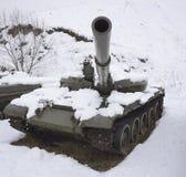 受伤的俄国坦克 免版税库存照片