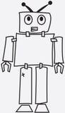 受伤的机器人 免版税库存照片