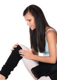 受伤的现代舞蹈家 免版税库存图片