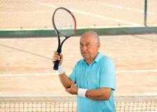 受伤的网球运动员 免版税库存照片