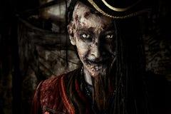 受伤的死的海盗 图库摄影