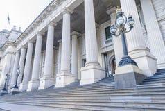 2009年受害者维多利亚的澳洲bushfire著名标志半路墨尔本内存议会杆 库存照片