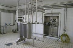 受控工厂压力槽温度阀门 免版税库存照片