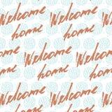 受欢迎的家庭卡片或海报 手拉的字法 现代书法 艺术性的文本 墨水例证 模式 库存照片