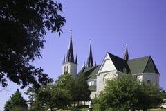 受难者的寺庙教会 免版税库存图片