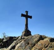 受难象十字架在Motol 图库摄影