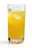 变冷的橙味饮料。 免版税图库摄影