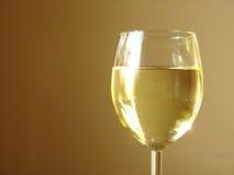 变冷的白葡萄酒 库存图片
