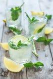 变冷的薄荷的柠檬水 库存照片