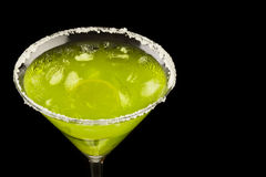 变冷的鸡尾酒绿色 图库摄影