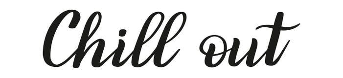 变冷 刷子笔字法 向量 皇族释放例证