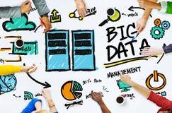 变化人大数据运作的配合讨论概念 免版税库存图片