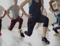 变化人锻炼类放松概念 库存图片